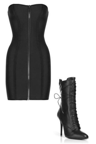 dress and boot