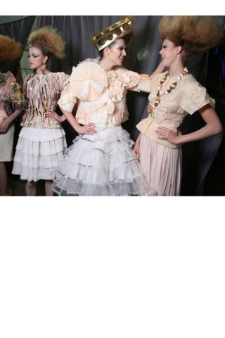 Backstage at Dior