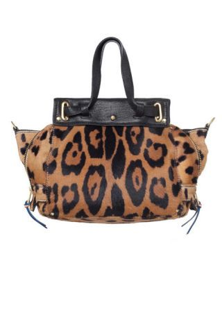 """Carlitos"" leopard-print pony-hair small tote"