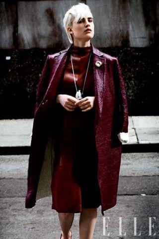 Bonded leather coat,  C&#233&#x3B;line
