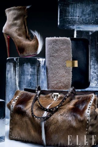 Goatskin and leather boot, Christian Louboutin