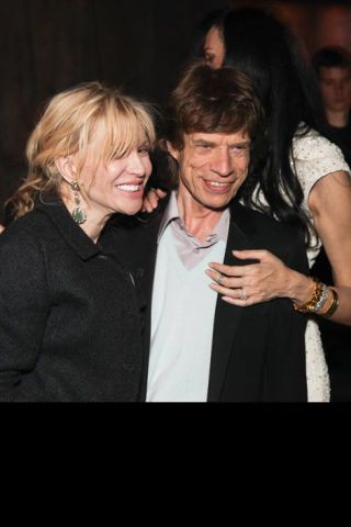 Courtney Love and Mick Jagger.