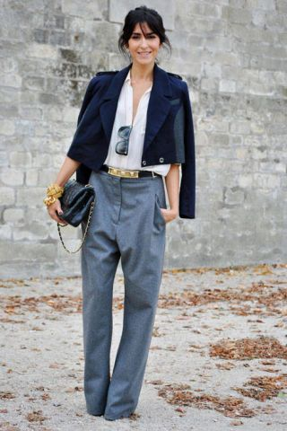 oversized menswear trousers