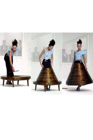 Table dress by Hussein Chalayan