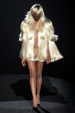 Wig dresses by Martin Margiela