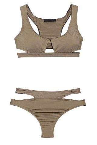 Alexander Wang gray swimsuit