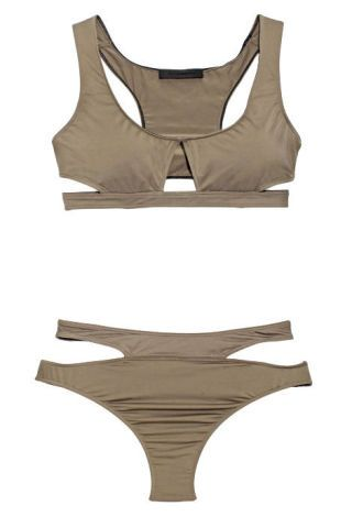 Alexander Wang gray swimsuit
