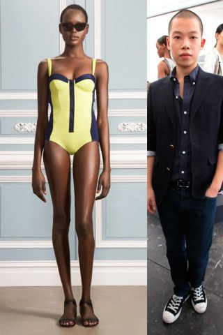 Jason Wu and yellow swimsuit
