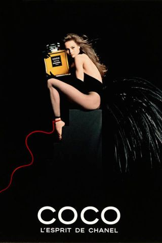 Paradis' first ad campaign for Chanel, 1992.