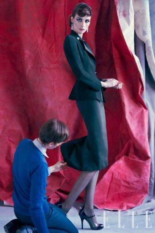 Silk collarless jacket, Giorgio Armani