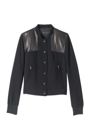 Triacetate-blend jacket with lambskin detail, Rag & Bone