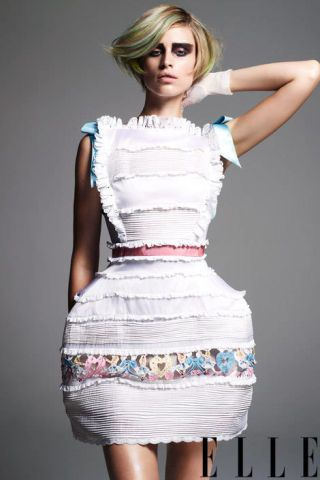 Silk pannier dress, Meadham Kirchhoff