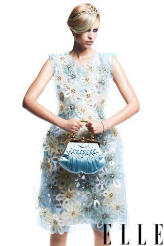 Silk and plastic dress