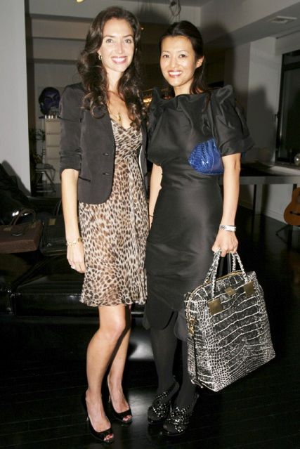 Olivia Chantecaille And Sang A Im Propp Look At That Silver Python Bag I M Swooning