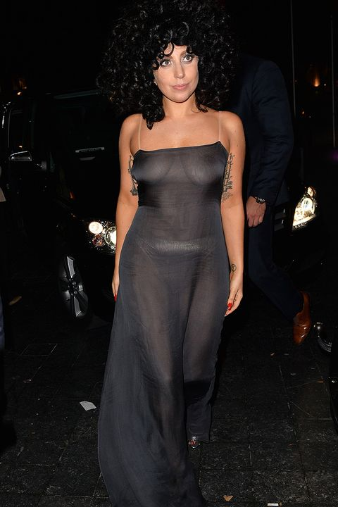 Paris Hilton - Sexy See-Through Dress at Golden Globe