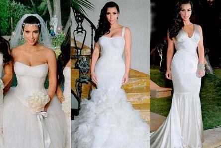 Pick Your Favorite Kim Kardashian Wedding Dress