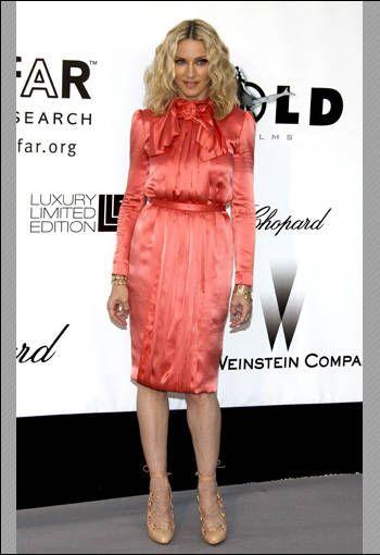 Madonna at the AIDS gala