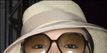 Sunglasses plus hat equal perfect shade