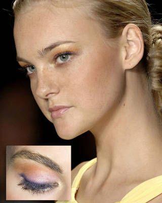 bold makeup in Michael Kors