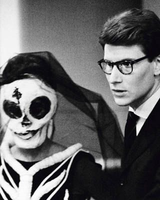 Yves Saint Laurent during a rehearsal of the ballet Maldoror