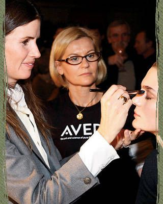 Gucci Westman does makeup backstage at the fall '08 Rag & Bone show