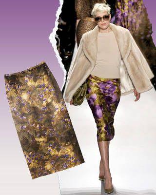 Silk-blend skirt, Michael Kors