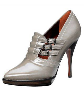 The cropped bootie in gray, Mulberry