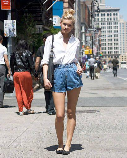 Street Chic - demin shorts