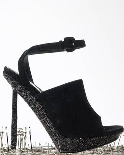 Yves Saint Laurent suede sandal