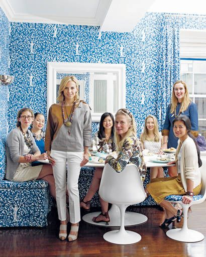 entertaining - Tory Burch with her design team