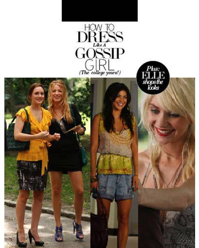 How to Dress Like a Gossip Girl
