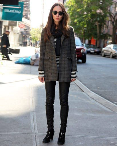 Clothing, Textile, Outerwear, Street, Boot, Sunglasses, Style, Street fashion, Urban area, Pattern,