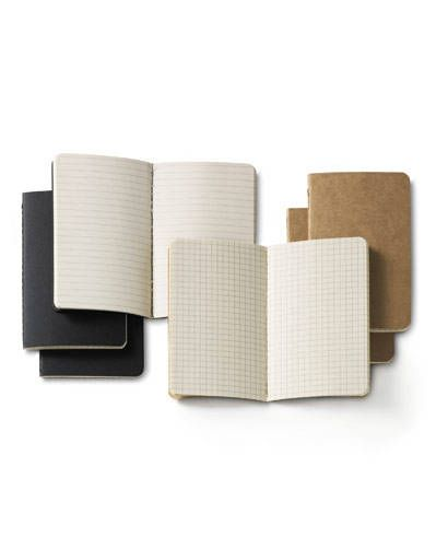 design - moleskin cahiers and volants