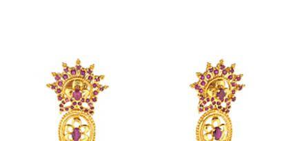 Estate ruby earrings