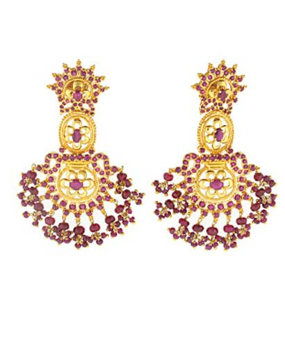 Estate ruby earrings
