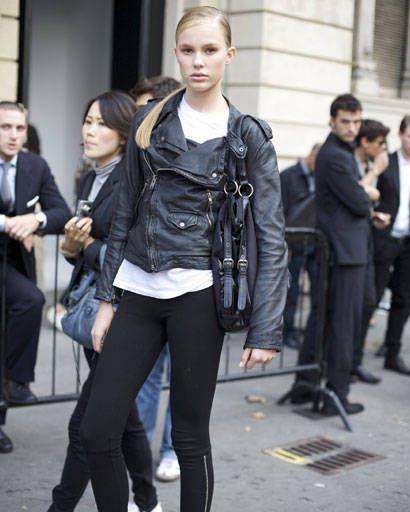 Clothing, Footwear, Leg, Trousers, Textile, Jacket, Outerwear, Bag, Style, Street fashion,