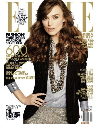 Keira Knightley ELLE cover shoot