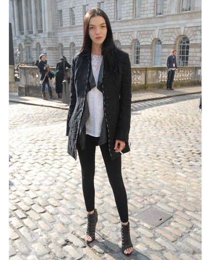 Clothing, Sleeve, Textile, Outerwear, Style, Street fashion, Street, Pattern, Jacket, Knee,