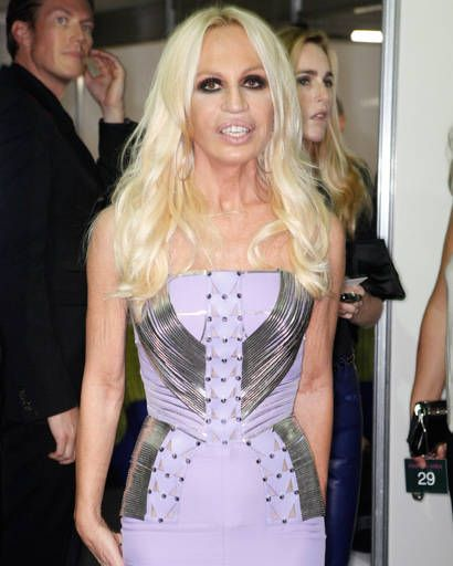 Donatella Versace backstage