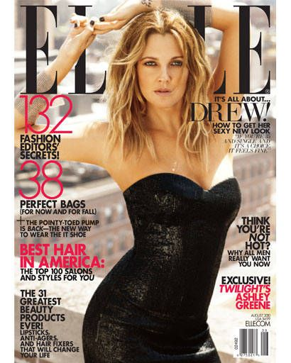 Drew Barrymore ELLE August 2010