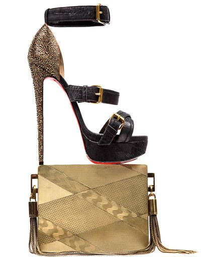 Product, Brown, High heels, Style, Sandal, Bag, Leather, Musical instrument accessory, Fashion, Black,