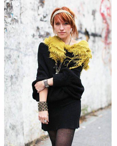 Clothing, Hairstyle, Eye, Dress, Style, Bangs, Street fashion, Fashion, Black, Little black dress,