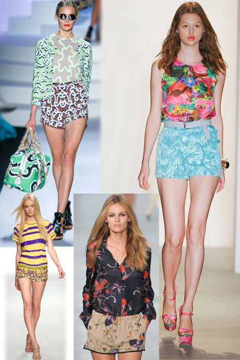 mixed prints runway