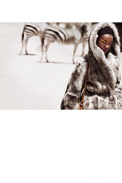 Reversible shearling coat, Donna Karan