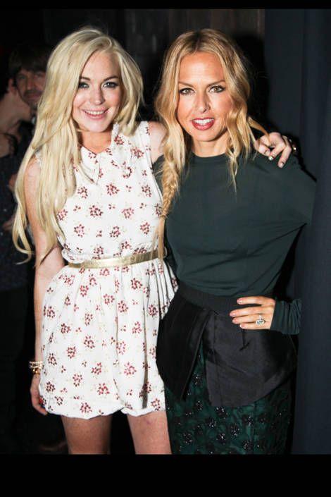 Lindsay Lohan and Rachel Zoe.