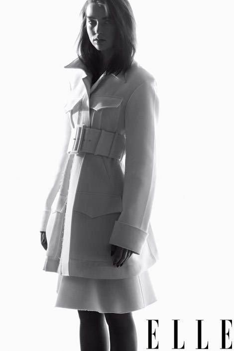 Cotton coat, $4,300, skirt, $1,350, both, Céline,