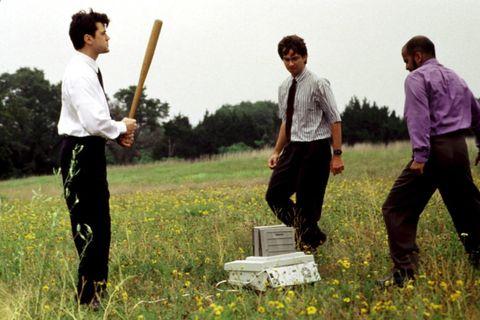 Standing, People in nature, Grass family, Grassland, Box, Meadow, Prairie, Field, Throwing axe, Shotgun,