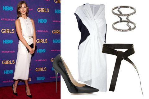Dress, High heels, Formal wear, Style, Fashion, One-piece garment, Day dress, Fashion design, Basic pump, Design,