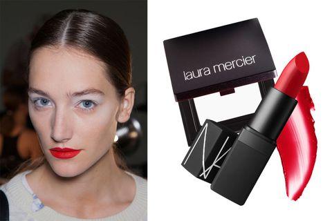 Lip, Eyebrow, Eyelash, Red, Style, Lipstick, Earrings, Beauty, Carmine, Cosmetics,