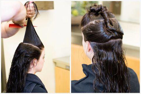 Hair, Ear, Hairstyle, Hair accessory, Style, Eyelash, Long hair, Beauty, Fashion, Temple,